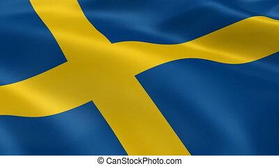 drapeau suédois, vent