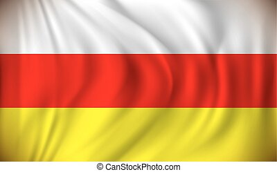 drapeau, sud, ossetia