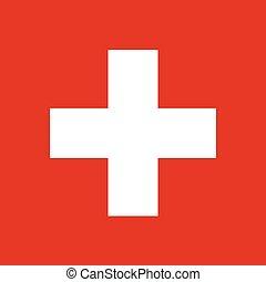 drapeau suisse, illustration, vecteur