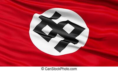 drapeau, symbole dollar, rouges