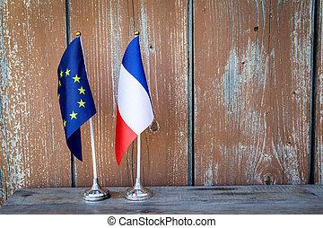 drapeau syndicats, européen, france