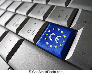 drapeau syndicats, marquer, cérium, européen