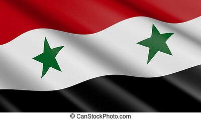 drapeau syrie, (seamless, loop)