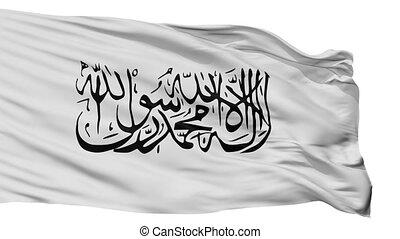 drapeau, taliban, isolé, boucle, seamless