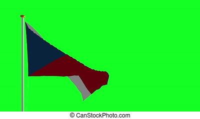 drapeau tchèque, vert, écran