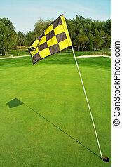 drapeau, terrain de golf