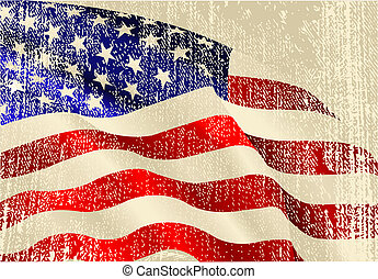 drapeau, thème, usa