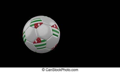 drapeau, transparent, football, fond, canal, voler, balle, alpha, abkhazia