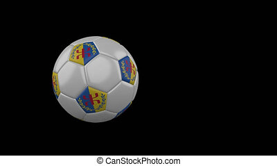 drapeau, transparent, football, fond, canal, voler, balle, alpha, kabylia