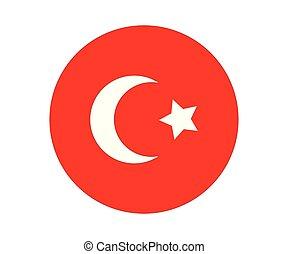drapeau, turc, icône