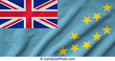 drapeau tuvalu, a froissé