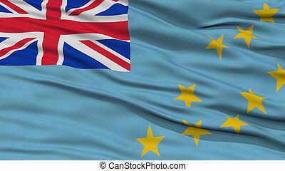 drapeau tuvalu, closeup