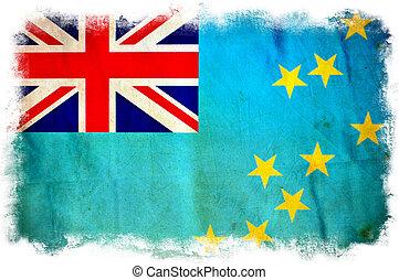 drapeau tuvalu, grunge
