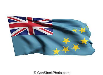 drapeau tuvalu, onduler