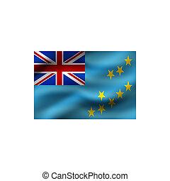 drapeau, tuvalu.