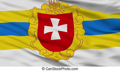 drapeau ukraine, closeup, rivne, oblast