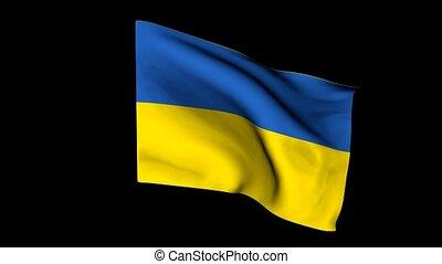 drapeau ukraine, européen
