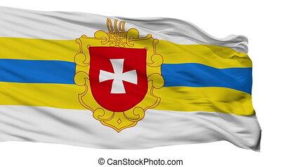 drapeau ukraine, rivne, oblast, isolé