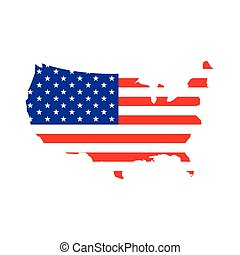 drapeau, uni, carte, etats
