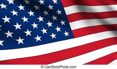 drapeau, usa, boucle