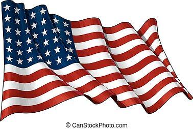 drapeau usa, wwi-wwii, (48, stars)