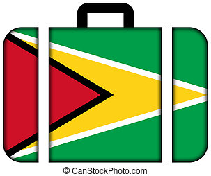 drapeau, valise, guyane