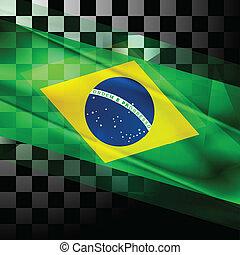 drapeau, vecteur, conception, brésilien