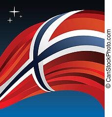 drapeau, vecteur, norvège, illustration