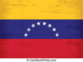 drapeau venezuela, grunge