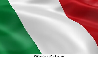 drapeau, vent, italien