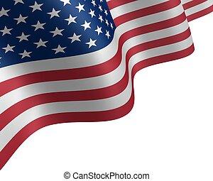 drapeau, vent, usa, onduler
