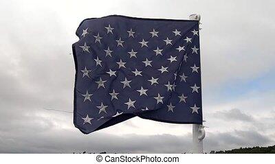 drapeau, voler, nautique, brise