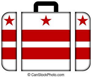 drapeau, washington dc, valise