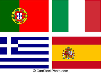 drapeaux, cochons