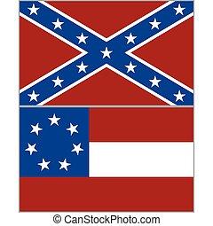 drapeaux, confédération