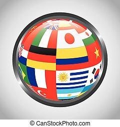 drapeaux, de, pays
