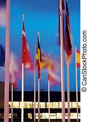 drapeaux, groupes