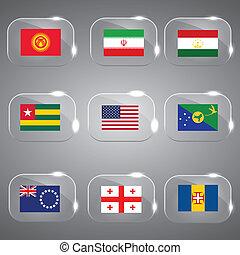 drapeaux monde, drapeaux, europe