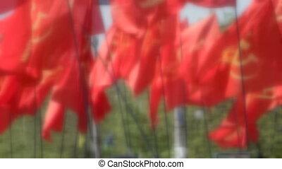 drapeaux, rouges