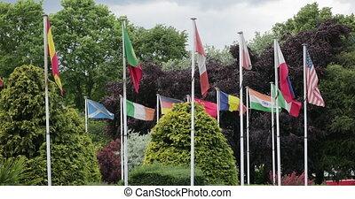 drapeaux, vent, a mûri