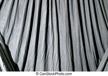 Draped black background cloth