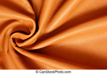 Draped leather for background - Tan color draped leather for...