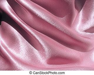 Draped pink satin background