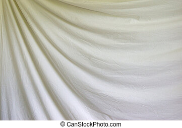draped white background cloth