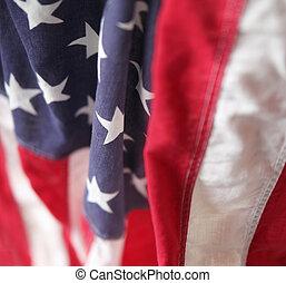 drapowany, bandera, usa
