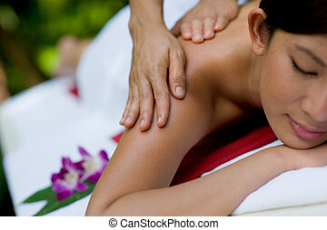 draußen, massage