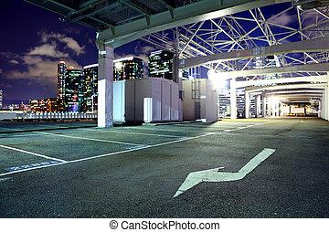 draußen, parkplatz