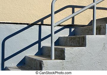 draußen, treppenaufgang