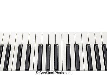 draufsicht, klavier tastatur