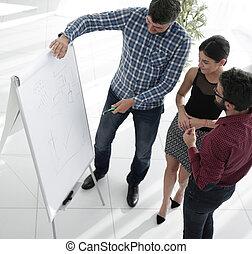 draufsicht, von, ein, andauernd, teambuilding, firmenschulung